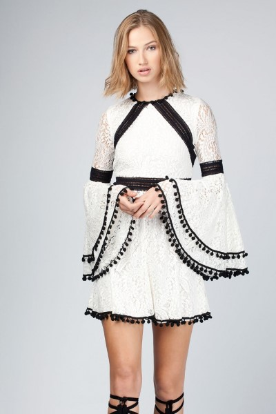 GUTS & LOVE PRISCILA DRESS WHITE