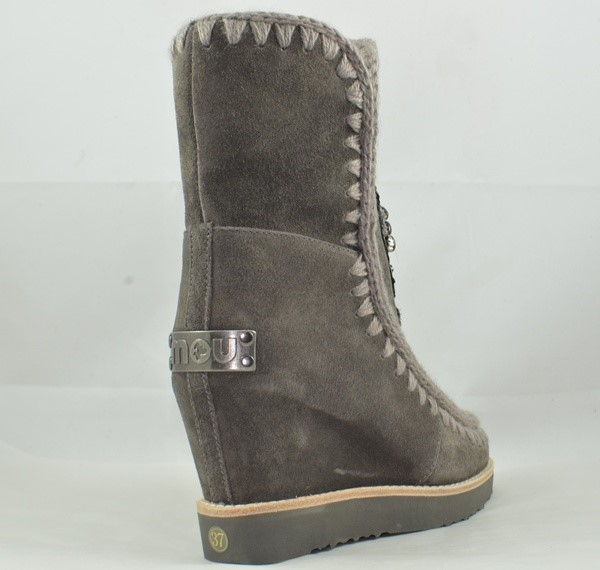 BOTA MOU FRENCH TOE WEDGE LOWER PATCH CHARCOAL