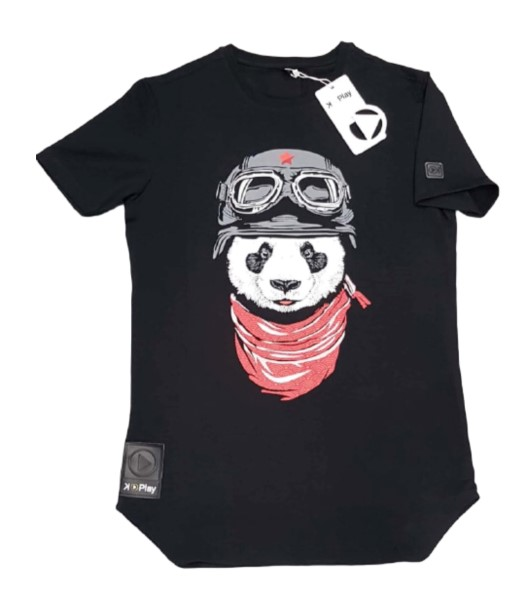 CAMISETA UNISEX K-PLAY PANDA BLACK