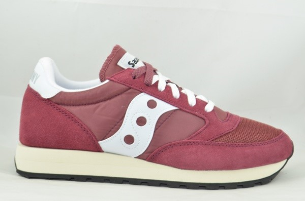 SAUCONY ORIGINALS JAZZ 0RIGINAL VINTAGE BURGUNDY/WHITE