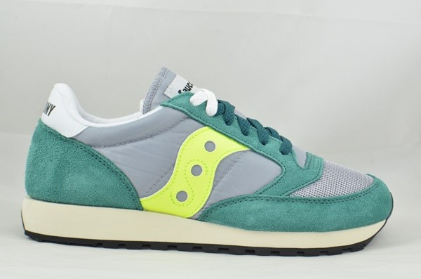 SAUCONY ORIGINALS JAZZ 0RIGINAL VINTAGE GREEN/GREY/NEON