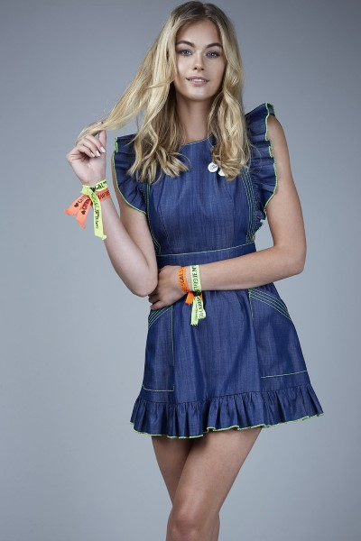 GUTS AND LOVE DENIM DRESS AZUL