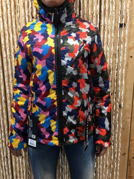 DIVISIBILE JACKET SHORT REVERSIBLE CAMOU COLOR-CAMOU ORANGE/BLUE