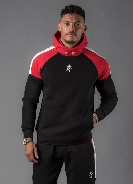 SUDADERA GYM KING CORE PLUS CONTRAST PULLOVER HOODIE BLACK/RED/WHITE