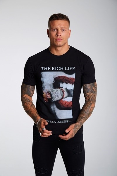 CAMISETA CHICO VOLÉ LA LUMIÈRE THE RICH LIFE T-SHIRT BLACK