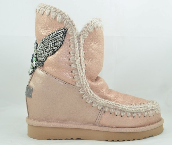 BOTA MOU INNER WEDGE SHORT EAGLE PÀTCH DUST ROSE BEIGE