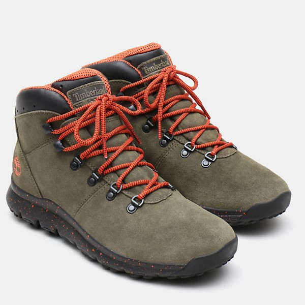 BOTA HOMBRE TIMBERLAND WORLD HIKER MID GRAPE LEAF DARK GREEN