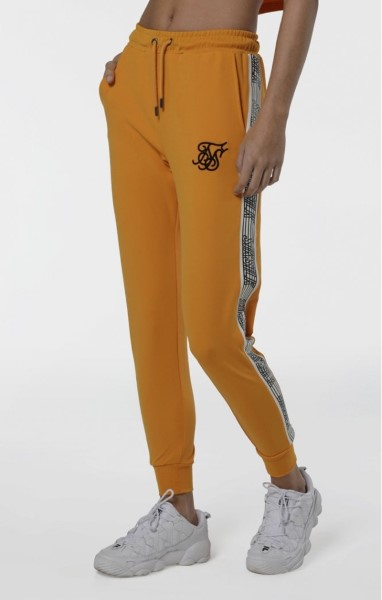SIKSILK CUFFED RUNNER TAPE JOGGERS - AMARILLO