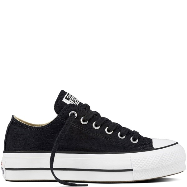 ZAPATILLAS MUJER CONVERSE CHUCK TAYLOR ALL STAR LIFT CANVAS LOW TOP BLACK