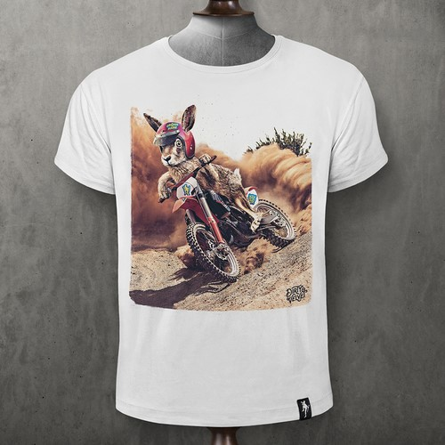 CAMISETA DIRTY VELVET CROSS HARE WHITE