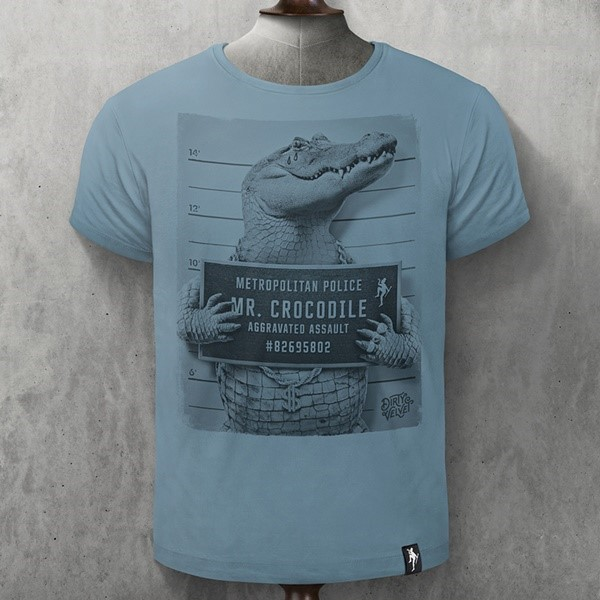 CAMISETA DIRTY VELVET MR. CROCODILE BLUE