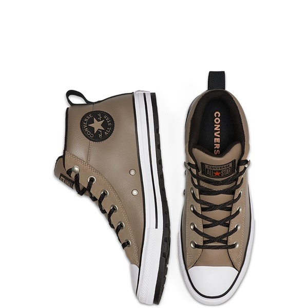 ZAPATILLAS HOMBRE UNISEX CONVERSE CHUCK TAYLOR ALL STAR STREET LEATHER MID TOP GREY