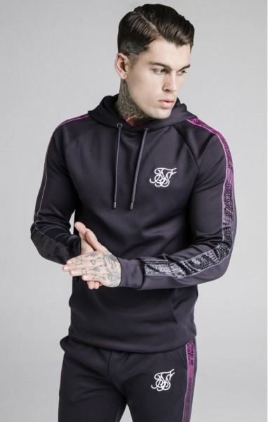 SikSilk Overhead Fade Panel Runner Hoodie – Nine Iron 15231