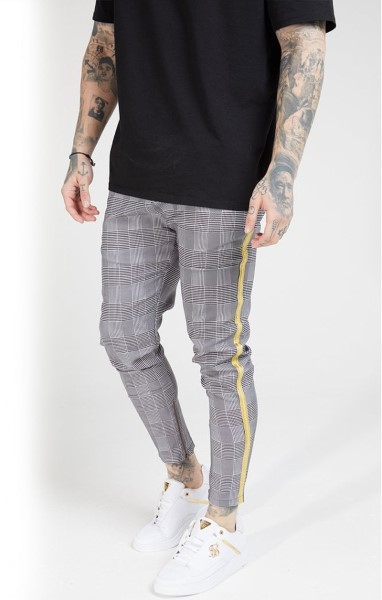 SIKSILK 16171 FITTED SMART TAPE JOGGER PANT - DOGTOOTH CHECK