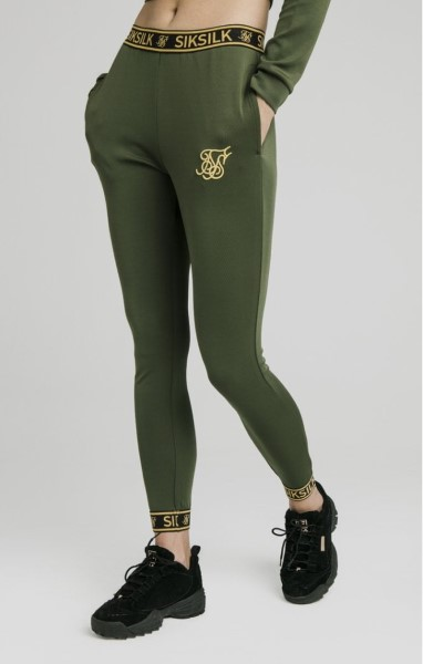 PANTALON SikSilk 1374 Taped Track Pantalon - Verde Bronce