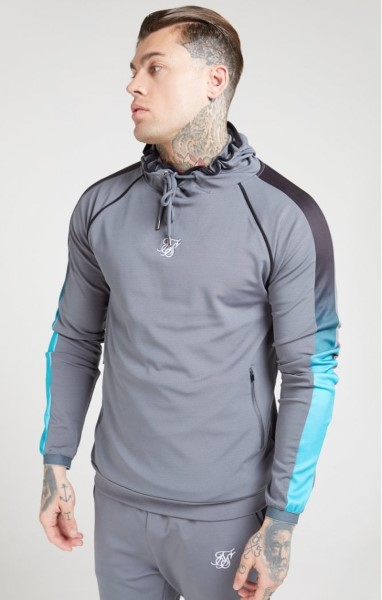 SUDADERA SIKSILK 15381 SCOPE OVERHEAD FADE PANEL HOODIE – SLATE