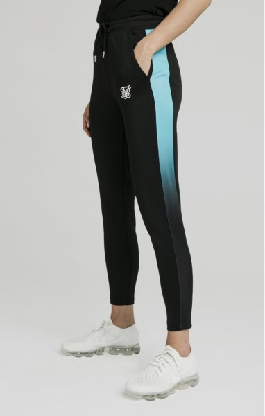 PANTALON SIKSILK 1316 FADE TRACK PANTS - BLACK & TEAL