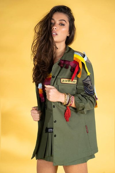 SOBRECAMISA MILITAR  GUTS AND LOVE MOROCCAN FEELIN