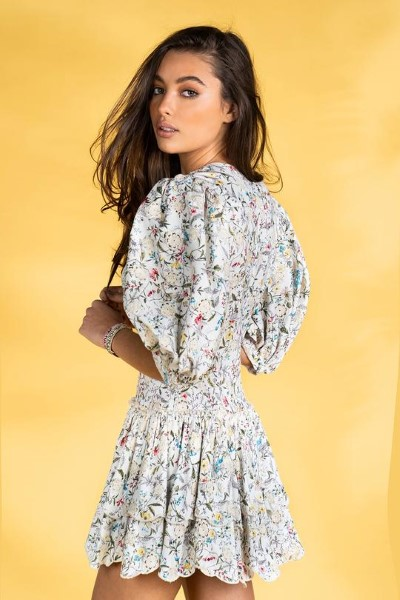 VESTIDO  GUTS AND LOVE FLOWERS & DUST