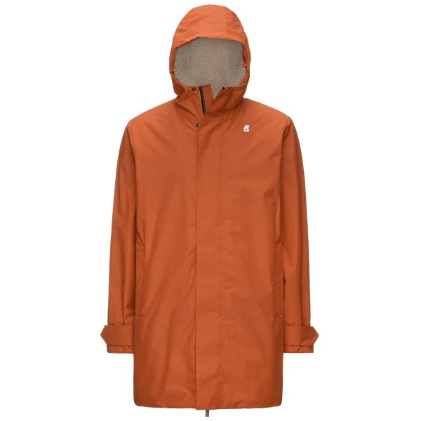 PARKA K-WAY JACOB NYLON SHEEPSKIN ORANGE